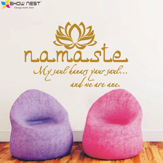Buddha Quotes Namaste Wall Decals Yoga Mandala Wall Stickers For Living  Rooms DIY Home Decor Yoga