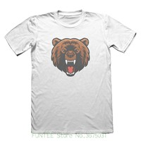 704ce04ec Fashion New Top Tees Tshirts Angry Brown Bear Design T Shirt Funny Mens  Gift 5071