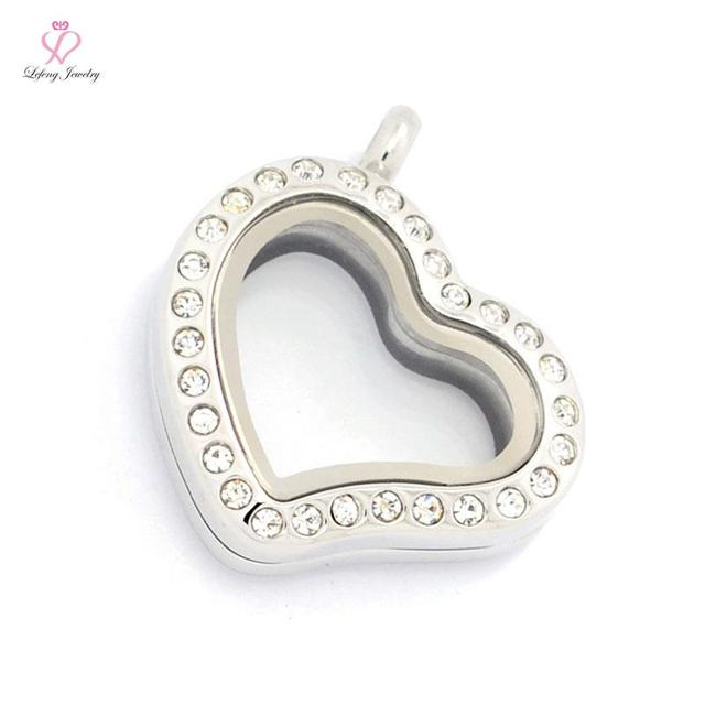 20mm askew heart crystal 316l stainless steel megnetic floating 20mm askew heart crystal 316l stainless steel megnetic floating locket pendantwholesale photo charms glass aloadofball Choice Image