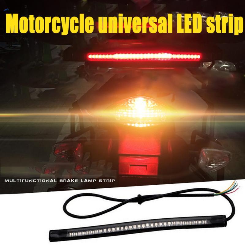 48SMD Universal Motorcycle LED Stripe Stop Lamp Turning Left/right Waterproof Tail Brake Strip Light