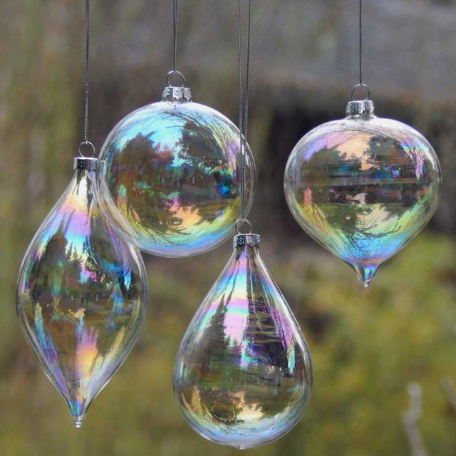 4pcslot christmas glass ball clear baubles ornaments decorations 4pcslot christmas glass ball clear baubles ornaments decorations christmas tree wedding decoration ball party junglespirit Images