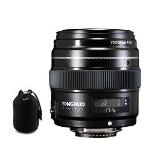 Image 1 - YONGNUO YN100mm 100 مللي متر F2N ثابت البؤري لكاميرا نيكون عدسة ، دعم AF/MF فتحة كبيرة القياسية المتوسطة المقربة رئيس عدسة