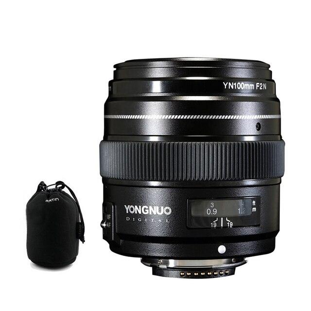 YONGNUO YN100mm 100 مللي متر F2N ثابت البؤري لكاميرا نيكون عدسة ، دعم AF/MF فتحة كبيرة القياسية المتوسطة المقربة رئيس عدسة