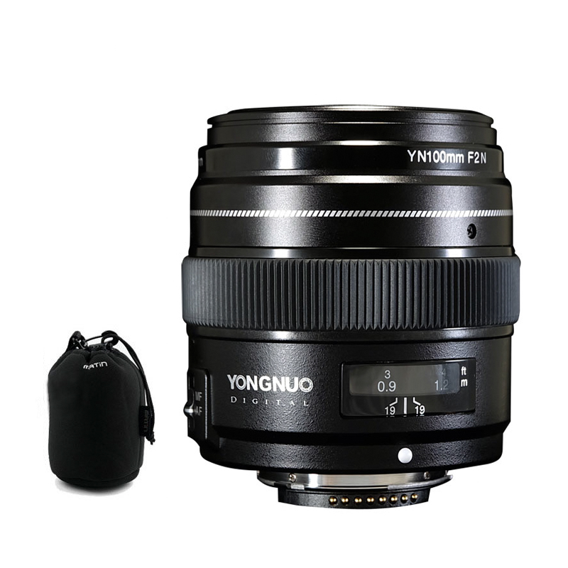 YONGNUO YN100mm 100mm F2N Fixed Focal for Nikon Camera Lens support AF MF Large Aperture Standard
