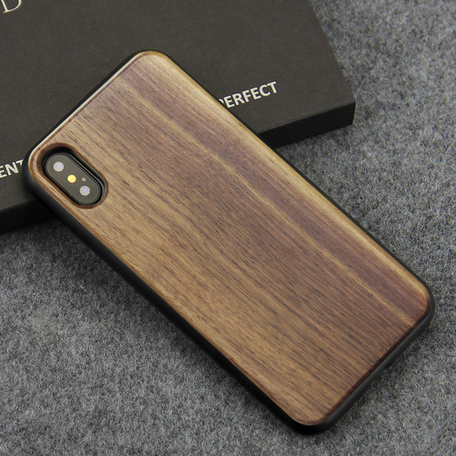 factory authentic a83c6 6e21e US $7.11 39% OFF YFWOOD Luxury Case For Apple iPhone X XS 7 7 Plus Wood  Case Genuine Real Natural Wooden Back Cover For iPhone 8 8 Plus X Cases -in  ...