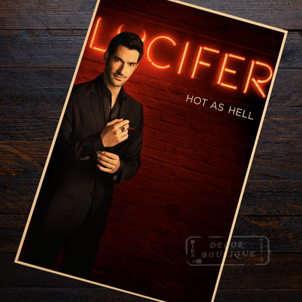 Lucifer Season 4 Remiel: Hot As Hell Lucifer Season 1 (2016) Classic TV Canvas