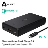 AUKEY 30000mAh Power Bank Quick Charge 3 0 PD Fast Charge Dual USB Powerbank Portable External