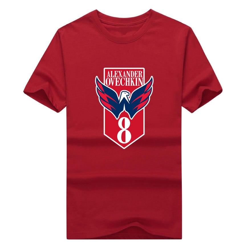 2017 Men Russia 8 Alexander Ovechkin Logo T shirt Tees Short Sleeve T SHIRT Men s