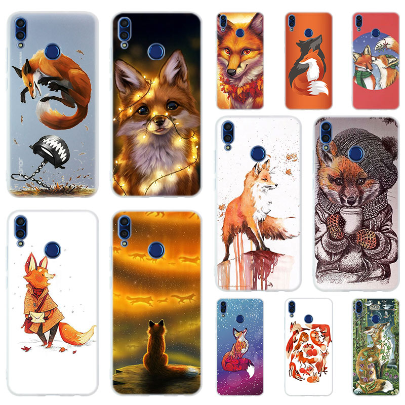 <font><b>Anime</b></font> funny foxs lovely cute Silicone Phone Case Cover For <font><b>Huawei</b></font> <font><b>Honor</b></font> <font><b>9</b></font> 10 <font><b>Lite</b></font> 6X 7X 8X Max 7A 8A 8C 20 PLAY 9x Hot image