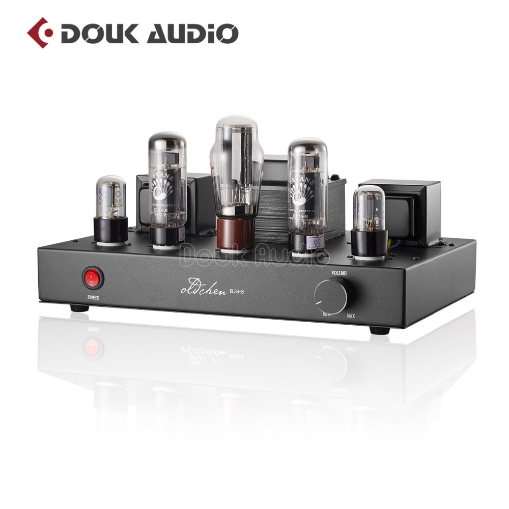 2018 Latest Douk audio Updated 6N9P Push EL34 Valve Tube Amplifier Pure Handmade Scaffolding Hi-Fi Stereo Class A Power AMP