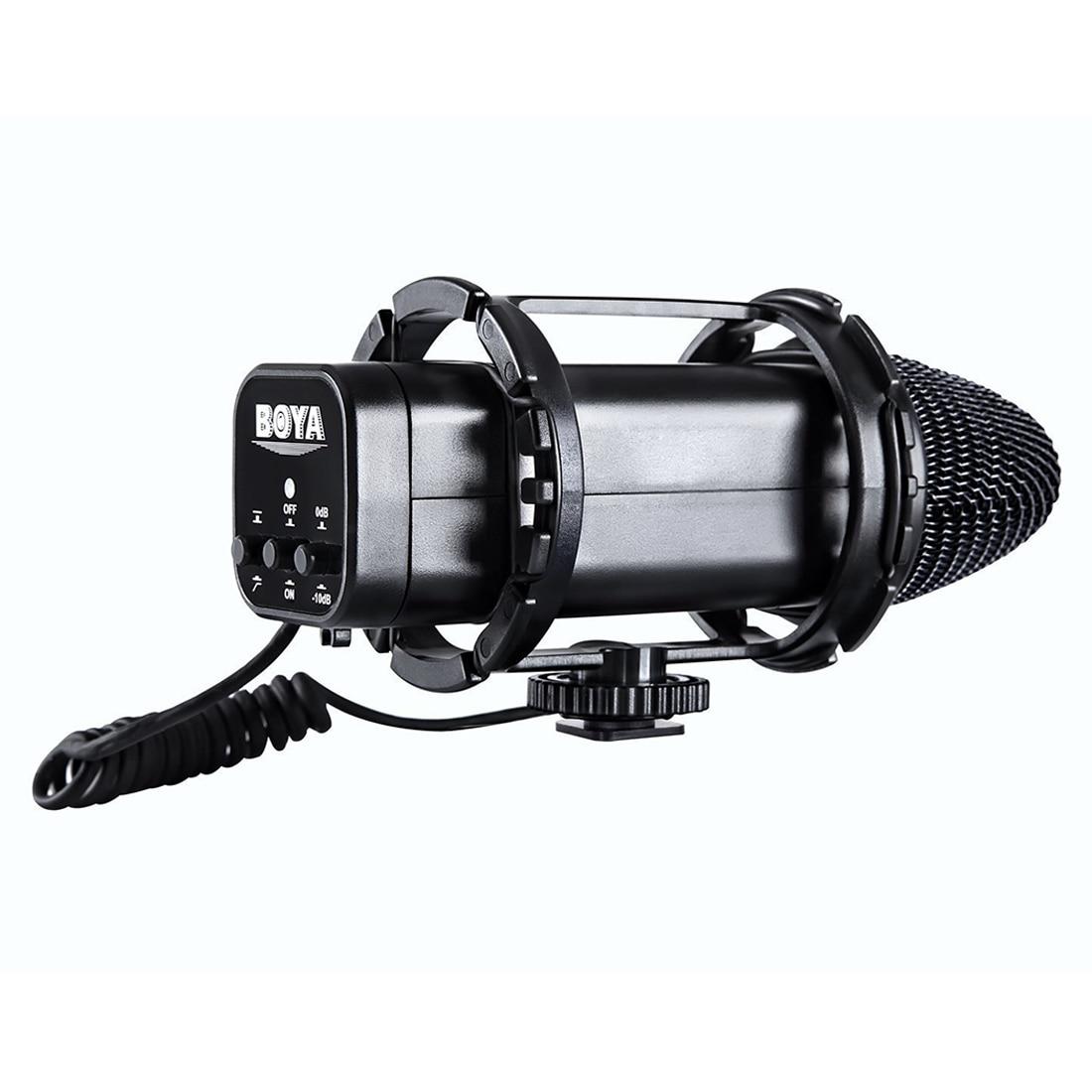 BOYA BY-V02 Camera Stereo Condensor miniphone for DSLR Canon 5D2 5D Mark III 6D 600D Nikon D800 D800E D810 D600 D300 D7000 цена 2017