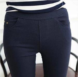 Image 3 - 2018 Spring Pencil Pants Women Casual Slim Skinny Trousers Women Pants Elastic Waist Mid Waist Ankle Length Leggings Plus size
