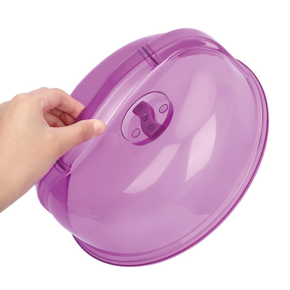 Plastic Splash Proof Microwave Dish Guard Kitchen Tool Bowl Lid Fridge Plate.~.
