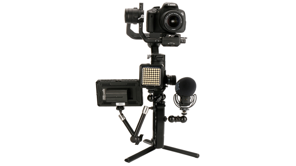 Gimbal Accessories L Bracket Stand Handle Grip with Hot Shoe 1/4'' Screw for Zhiyun Crane 2 DJI Ronin S Weebill LAB Stabilizer 10