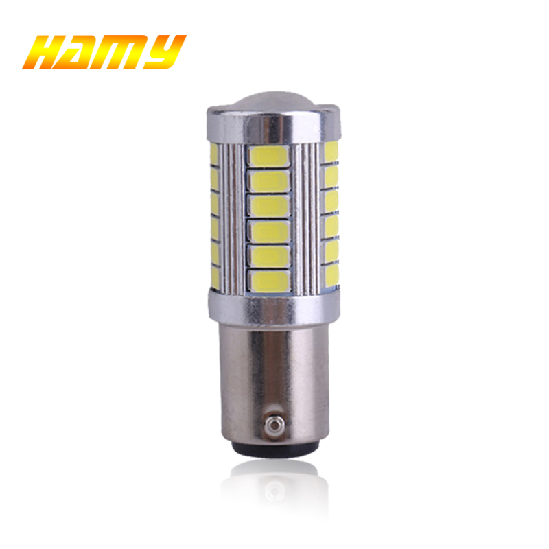 1x S25 PY21W <font><b>P21W</b></font> 1156 Ba15s 1157 Bay15d <font><b>LED</b></font> for car <font><b>bulbs</b></font> 12V Turn Signal lamp Brake Reverse Parking Light 33SMD Yellow White image