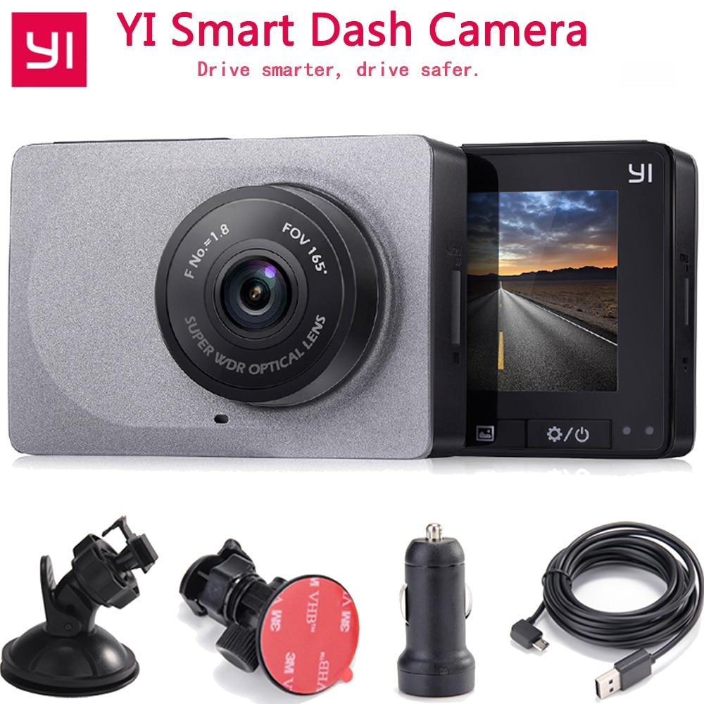 Xiaomi YI Inteligente Detector de Câmera Do Carro Dvr 1080P 60fps 165 Graus 2.7