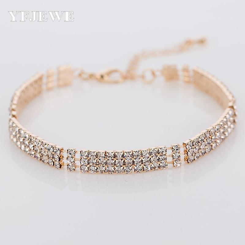 2017 Super Star Wedding Bracciali e braccialetti Braccialetti a catena a maglie in cristallo di strass brillanti per uomo nuovo arrivo B065