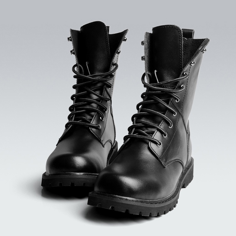 Black Mens Leather Boots - Yu Boots