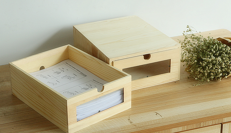 Organisateur de bureau en bois a4 facture papier bureau stationnaire
