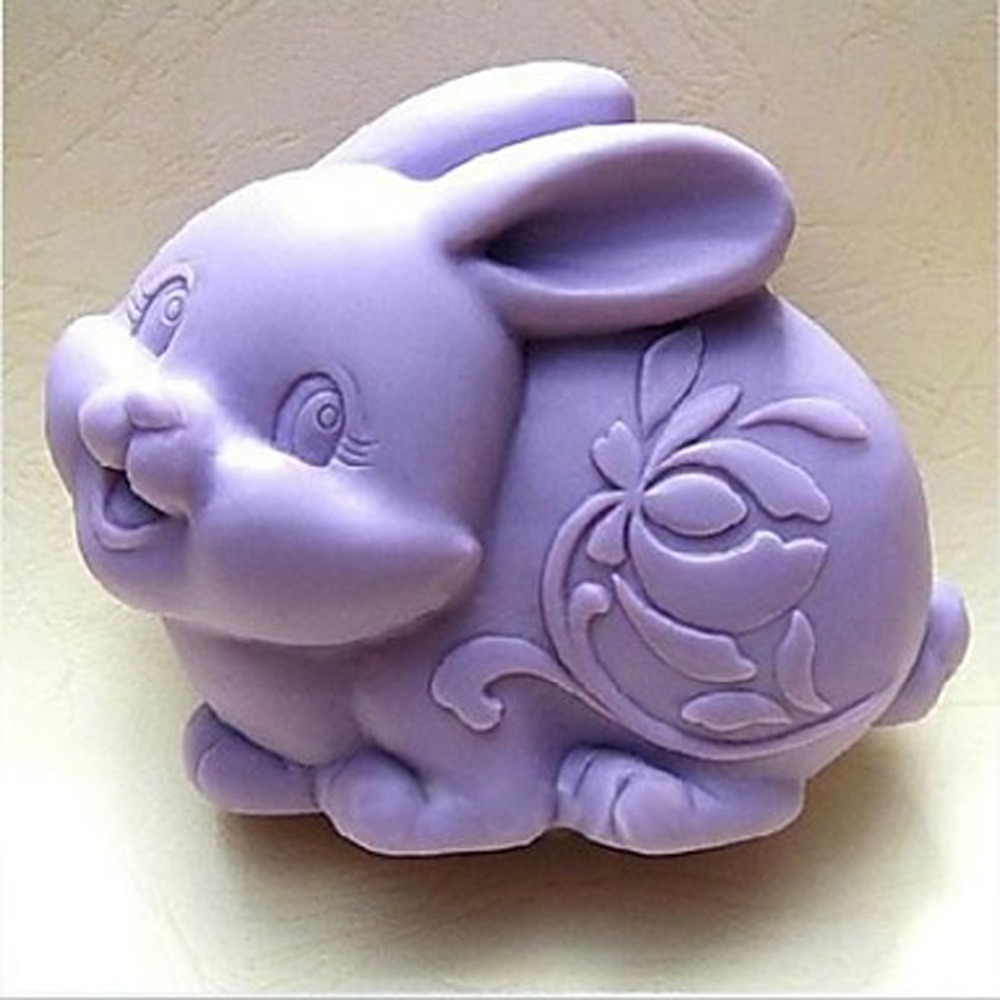 Cake Decorating Animal Molds : ?3D Easter Rabbit Animal ? Soap Soap Mold Resin Clay ...