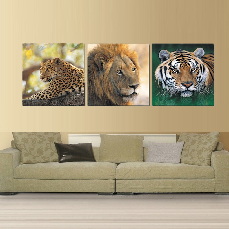 African Animal Prints Picture Leopard Lion Painting Face Tiger Head ...