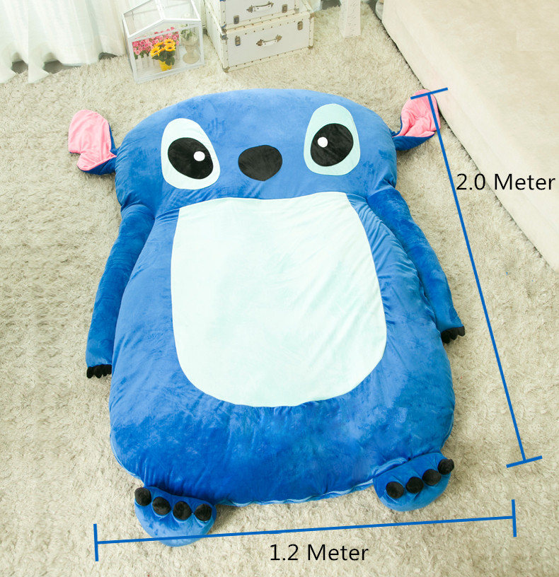 ce8c76c51a 1.2x2.0m Cute Cartoon Lilo and Stitch Image Sleeping Bag Sofa Bed Mattress  for Kids Adult Beanbag For Living Beanbag Sofa Chair-in Stuffed   Plush  Animals ...