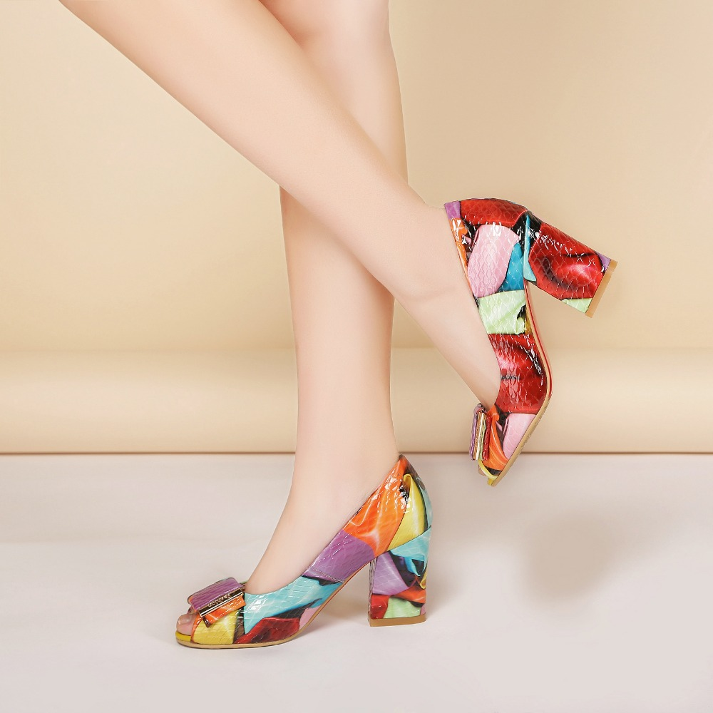 ФОТО Leather ladies high heels, 2017 spring new fashion wild sandals, shallow mouth sets of women's shoes women big size 11 12 13