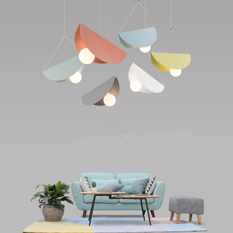 Creative shell table à manger suspension lampe nordique moderne minimaliste entrée balcon café fer chevet pendentif lumières