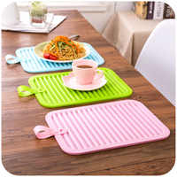 Free Shipping!Large insulation mat Silicone heat pad Dining table mat Pot holder coasters bowl pad anti-hot pad