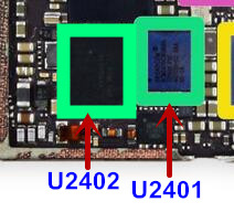 the best attitude ae5ab bb5a8 US $23.0 |2pair/lot touch screen ic kit for Iphone 6 6plus U2401 + U2402 (  343S0694 BCM5976C1KUB6G )-in Integrated Circuits from Electronic Components  ...