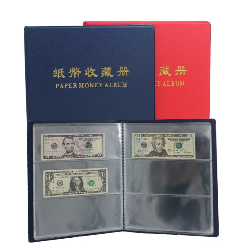 Transparent Staubdicht Papier Geld Collector 20 seiten Welt Papier Geld Album Papier Geld Sammeln Veranstalter