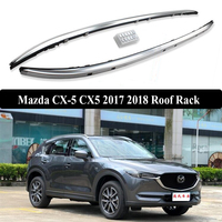 For Mazda CX 5 CX5 2017 2018 Roof Rack Rails Bar Luggage Carrier Bars top Racks Rail Boxes Aluminum alloy