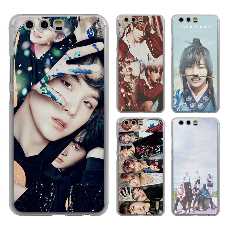 kpop BTS bangtan boys style clear Mobile phone Case cover for Huawei P10 P9 Lite P10 Plus P8 Ascend G7 G8 Mate 9