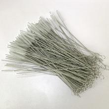FUHAIHE 100 шт./лот, кисти для многоразового использования, пластиковые соломинки, Экологичная соломенная щетка из нержавеющей стали 20 см