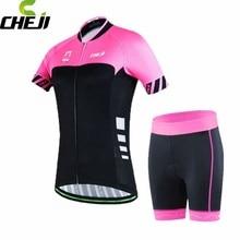 CHEJI Cycling Jersey Ropa Ciclismo Girls T Shirt Women Sport Clothing Bike Short Sleeve Bicycle Top