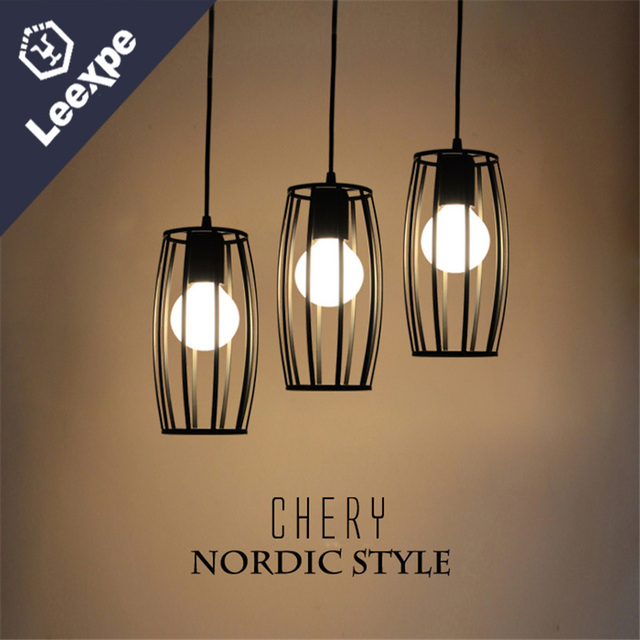 The Nordic Idea Three Dining Room Lamp Wrought Iron Bar