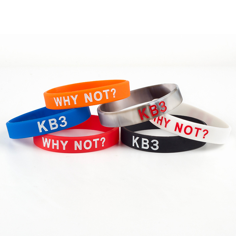 Купить с кэшбэком 1PC KB3 WHY NOT Silicone Bracelet Men Lovers Sporty Westbrook NO.0 The Same Style Basketball Wristbands Retail Wholesale SH299