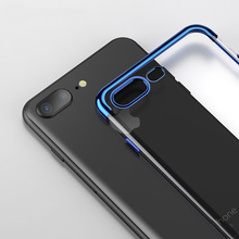 Transparent Ultra Thin Case for iphone 8 7 Silicone TPU Plating Case for iphone X 6 6s 8 7 Plus Soft Touch Luxury Foldable Cover цена
