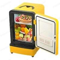 Double Use Car Fridge Mini Portable Multi Function Warmer Travel Home Camping Cooler 12V 7L Auto Refrigerator