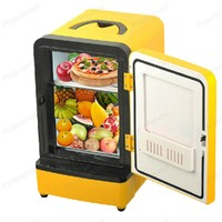 Double Use Car Fridge Mini Portable Multi Function Warmer Travel Home Camping Cooler 12V 7L Auto Refrigerator