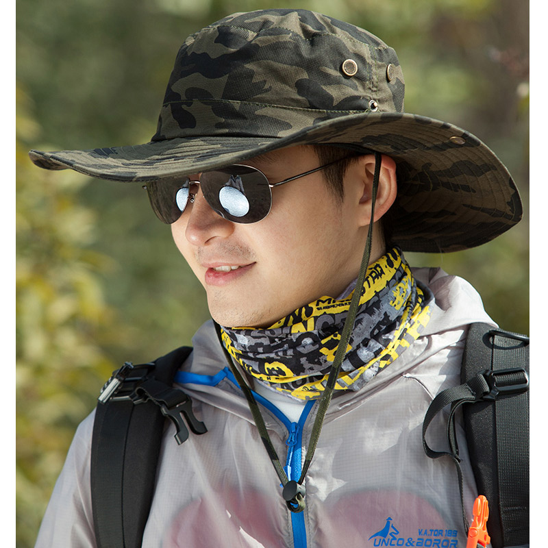 High Quality Outdoor Sport Sunshade Camouflage Hiking Hat Hot Military Tactical Camping New Trekking Climbing Army Cowboy Cap