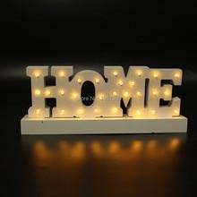 12 » широкий белый деревянный дом письмо свет из светодиодов шатер знак ночник день святого валентина крытый отменять бесплатная доставка