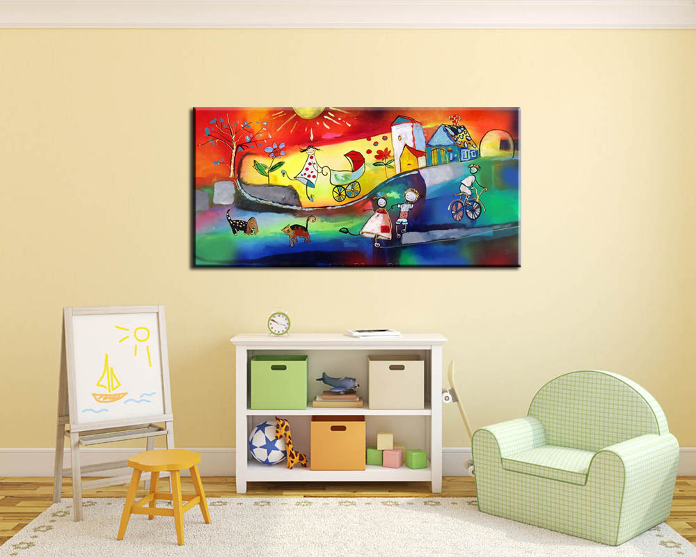 Acrylic painting abstract painting canvas wall art no frame 100 hand ...