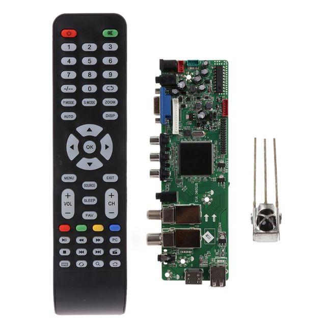 DVB S2 DVB T2 DVB C cyfrowy sygnał ATV klon sterownik LCD pilot płyta sterowania Launcher uniwersalny podwójny USB Media QT526C V1.1