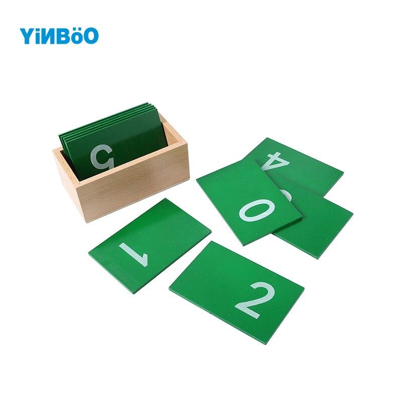Bébé jouet Montessori mathématiques papier de verre numéro avec boîte éducation de la petite enfance formation préscolaire enfants jouets Brinquedos Juguetes