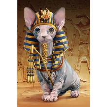 5d diy Diamond PaintingPharaoh CatFull,square Embroidery,handmade Drill Mosaic,art,Crafts Y1965