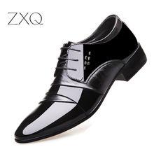 2017 Oxford Shoes For Men Office Shoes Patent Leather Business Dress Shoes Men Flats Zapatos Hombre
