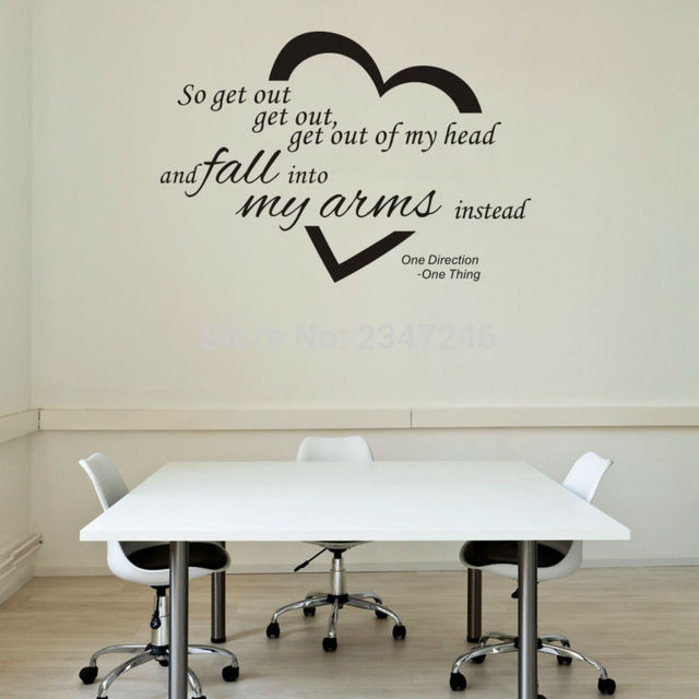 Aliexpresscom Buy One Direction English Quotes Vinyl Home - One direction wall decals