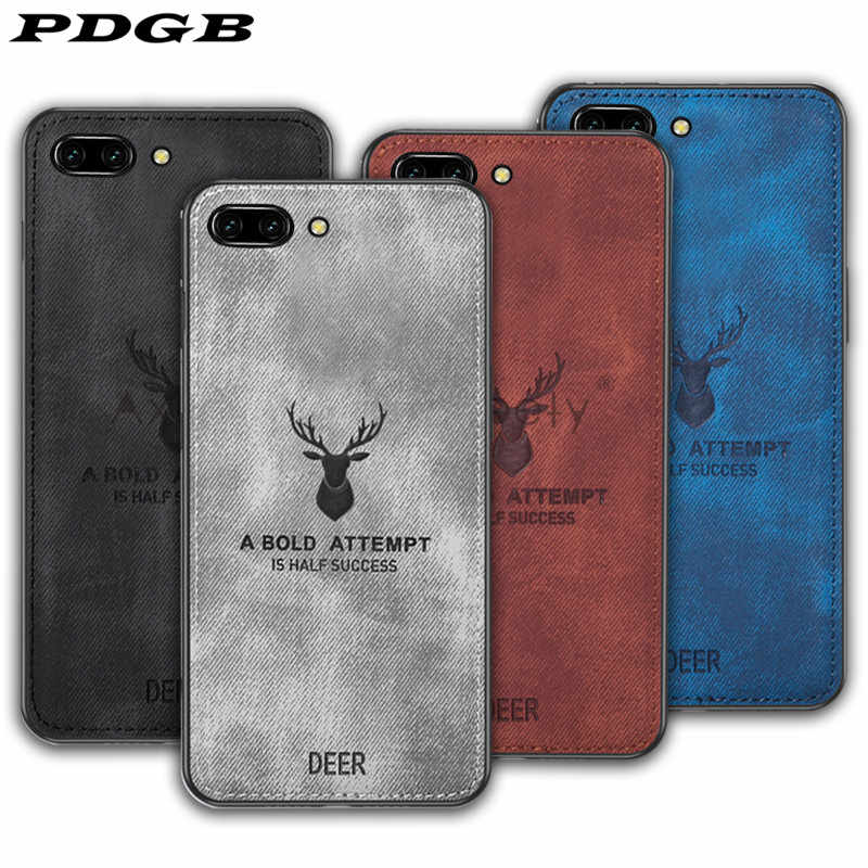 PDGB Rugged Case For Xiaomi Mi 9 6 8 Play A1 A2 Lite Mix 2 2s 3 Max Redmi Note 6 Pro 7 Global Cloth Pattern Cover Elk Deer Shell