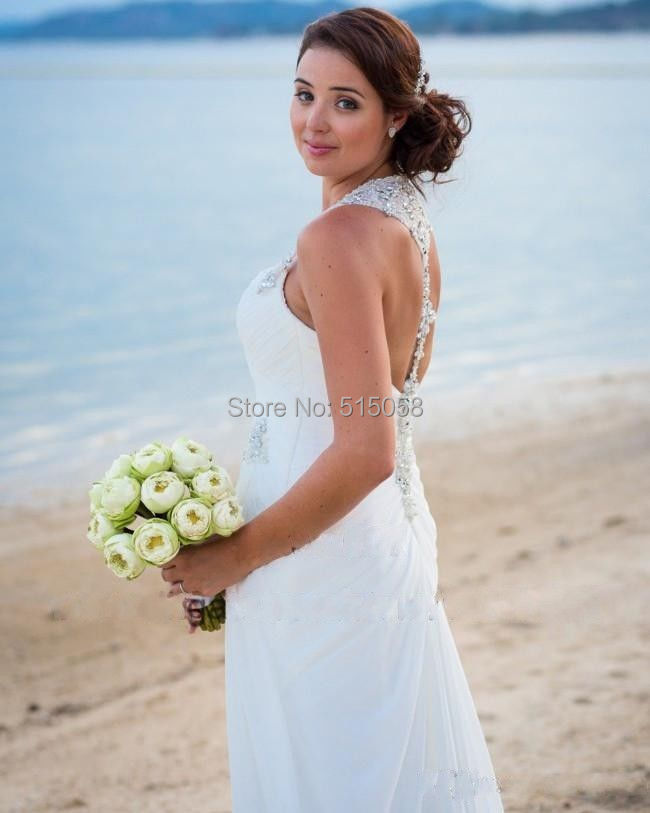 Plus Size Beach Wedding Halter Dress